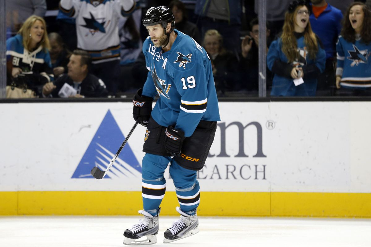 There has never been a photograph of Joe Thornton taken with his mouth closed.