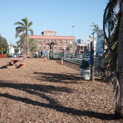 """Begin your doggie date early at <a href=""""http://www.venicedogpark.org/"""">Westminster Dog Park</a> (1234 Pacific Avenue), Venice's only off-leash play place for pups. Like its eclectic nabe, this spacious park is filled with enough """"<a href=""""http://www.yelp"""