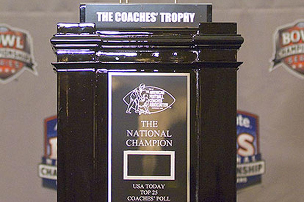 BCS Coaches Trophy.