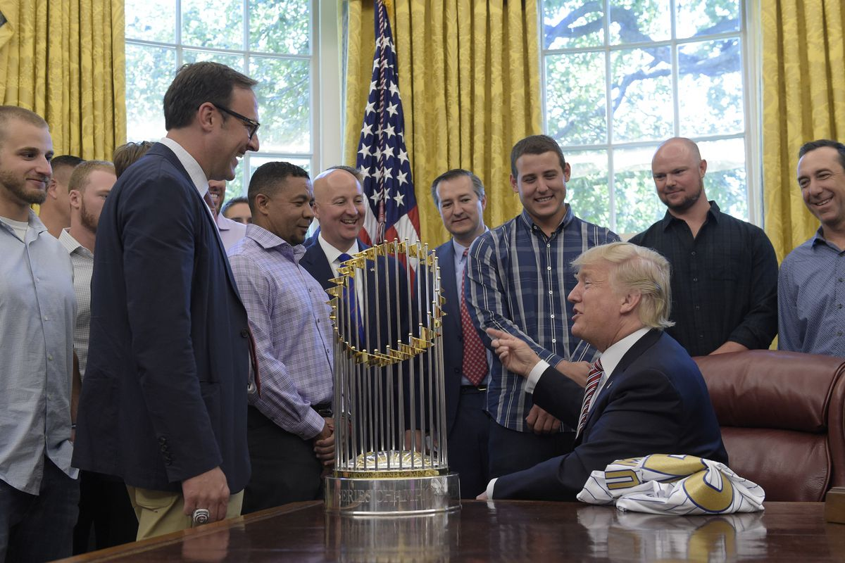 President Donald Trump meets with 2016 World Series Champion Chicago Cubs.