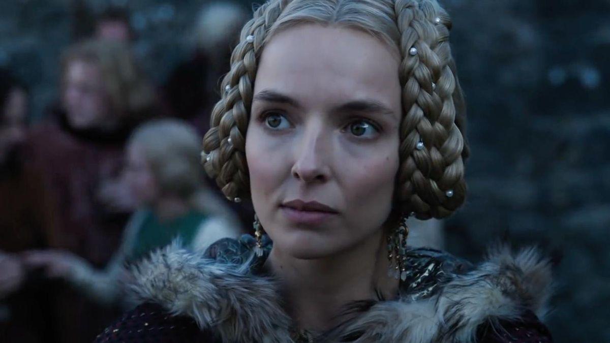 Jodie Comer as Marguerite de Thibouville in The Last Duel.