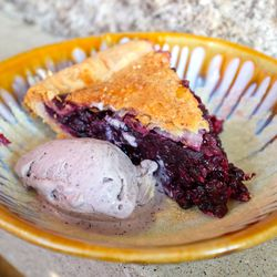 Maine blueberry pie at Eventide in Portland, ME
