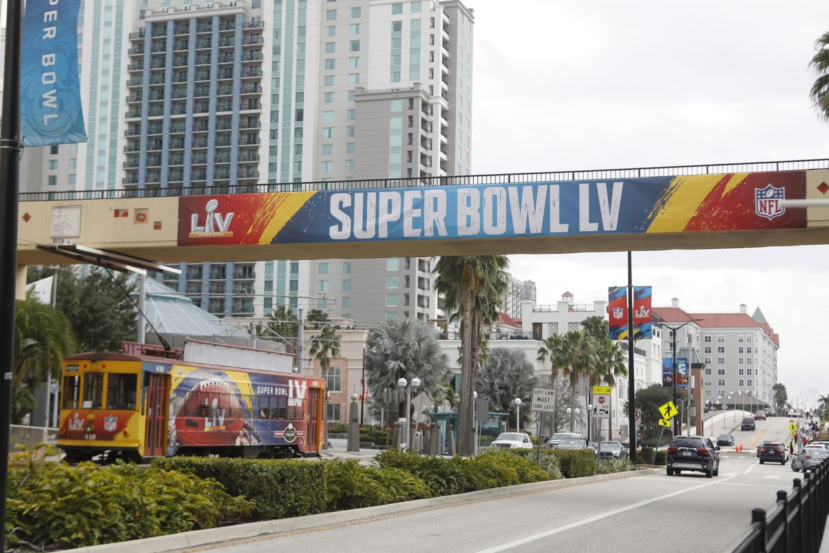 Tampa Prepares To Host Super Bowl LV Between The Kansas City Chiefs And The Tampa Bay Buccaneers