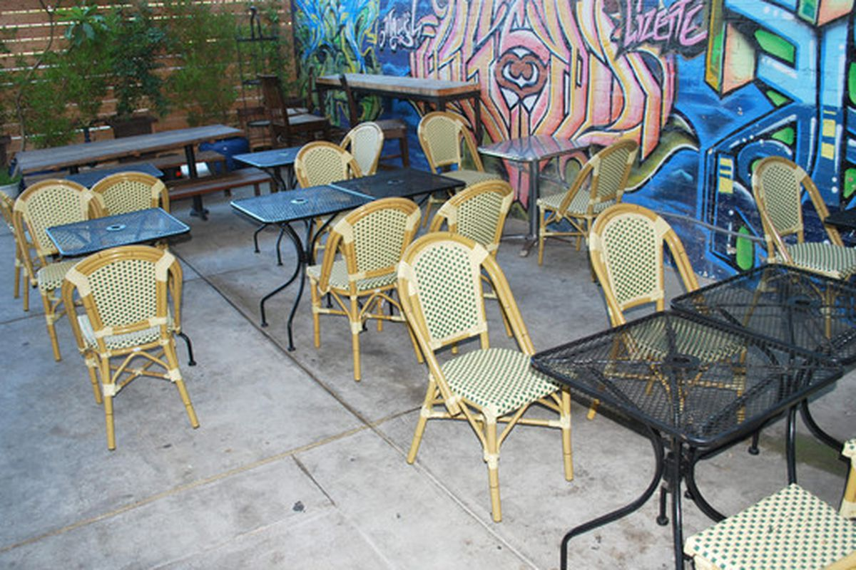 Patio at Stories Books & Cafe in Echo Park