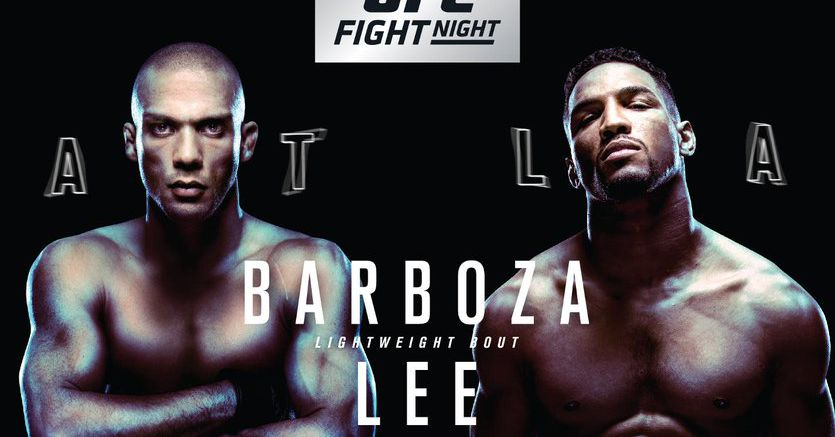 Ufc Atlantic City Poster Pic For Barboza Lee Edgar