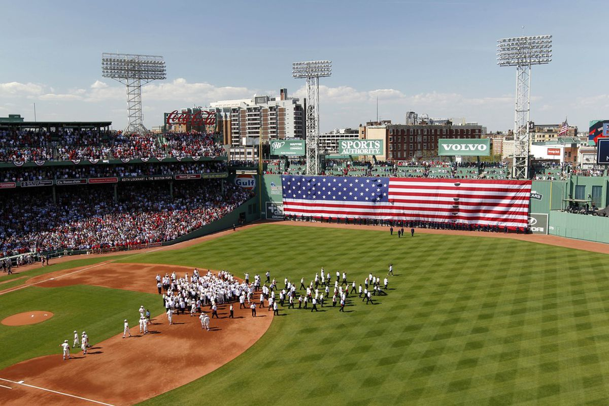 April 20, 2012: The Boston Red Sox conduct auditions to fill an open spot in the outfield (Photo by Greg M. Cooper-US PRESSWIRE)