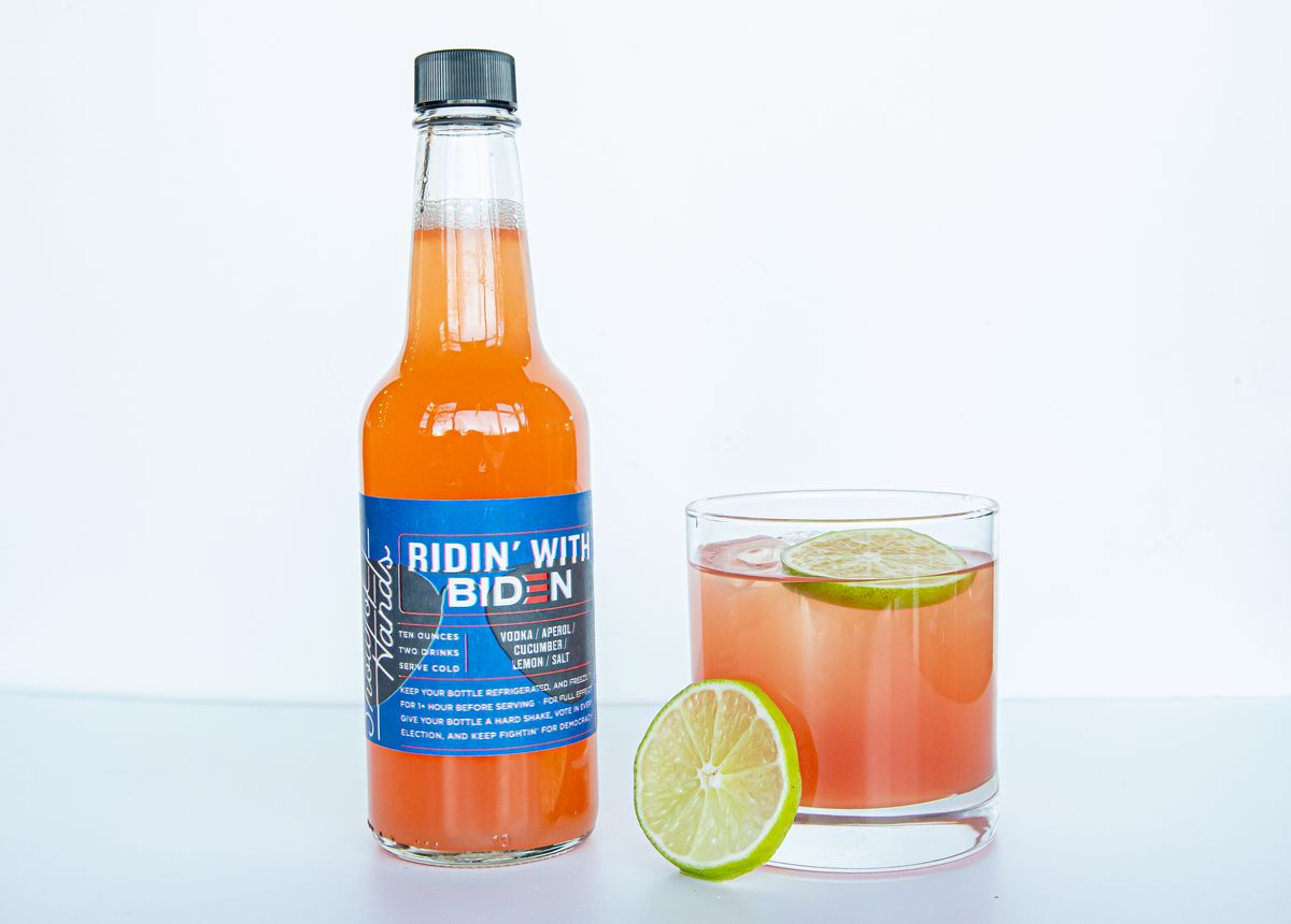"""A """"Ridin' with Biden""""bottled cocktail"""