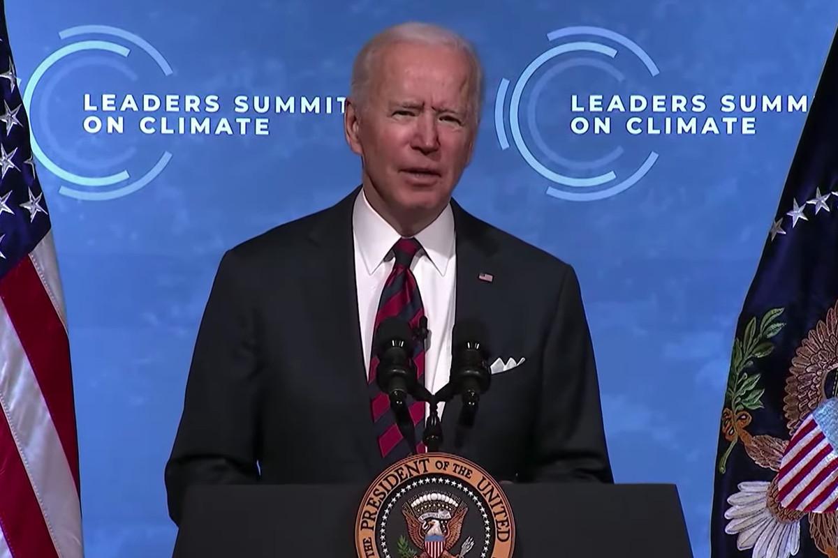 President Joe Biden at the Leaders Summit on Climate