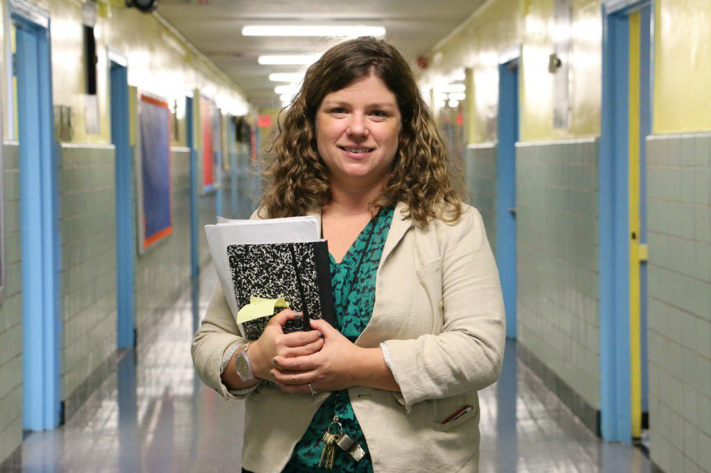 P.S. 191 Principal Lauren Keville hopes to convince more parents to give her school a chance. (Photo credit: Patrick Wall)