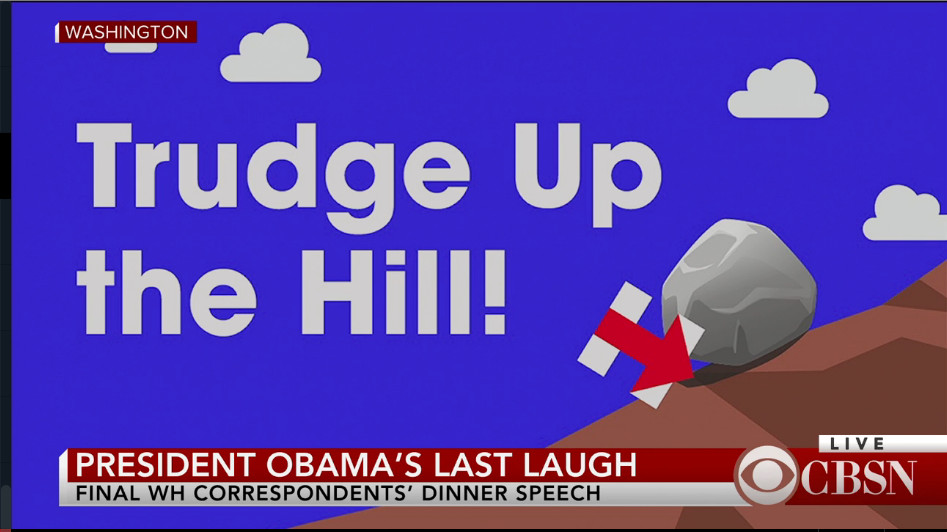 Hillary's slogan: Trudge Up the Hill!