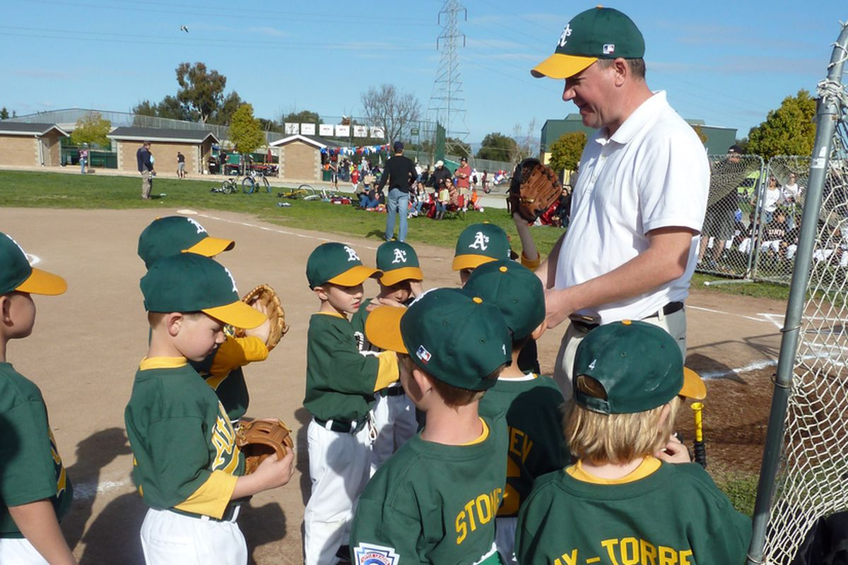 Coach Tim and the Quito Little League Athetics