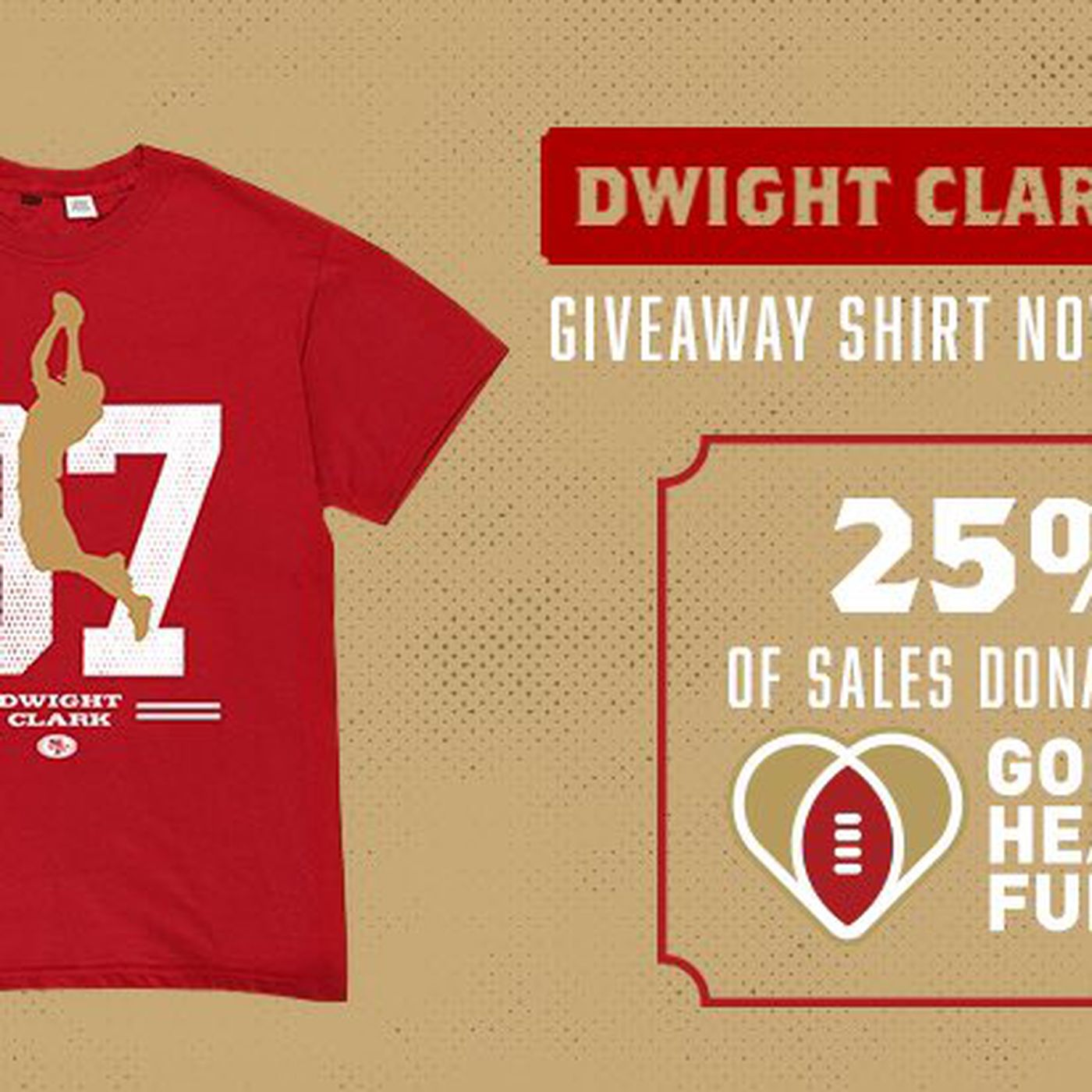 new style 6829a 34a68 49ers offering Dwight Clark t-shirt for sale, with proceeds ...