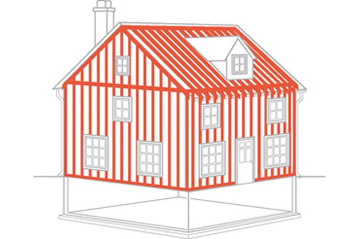 House Framing Illustration