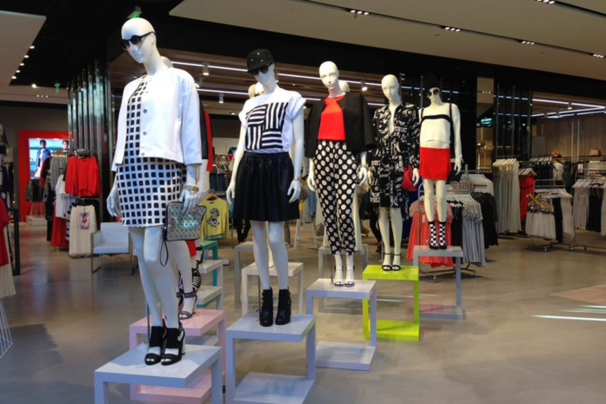 """Image of Topshop at The Grove <a href=""""http://la.racked.com/archives/2013/02/12/topshops_la_flagship_is_spacious_and_fully_stocked.php"""">via</a>"""