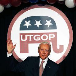 Sen. Orrin Hatch, R-Utah, speaks on election night in Salt Lake City, Tuesday, Nov. 4, 2014.