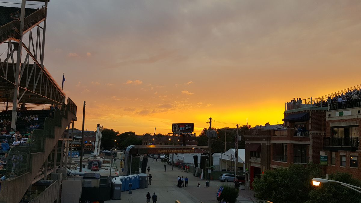 sunset at wrigley 6/24/15