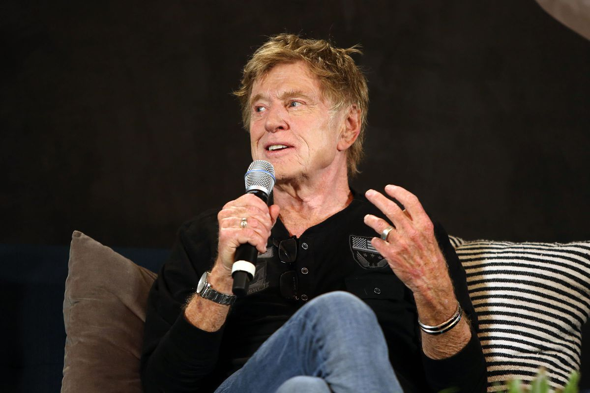Robert Redford, founder and president of the Sundance Institute, talks to members of the media during the 2017 Sundance Film Festival's annual Day One press conference at the Egyptian Theatre in Park City on Thursday, Jan. 19, 2017.