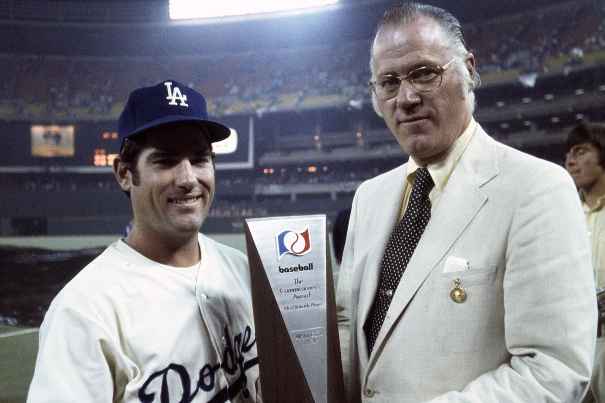 Steve Garvey, seen here winning the 1974 All-Star Game MVP, won the award again four years later in San Diego.