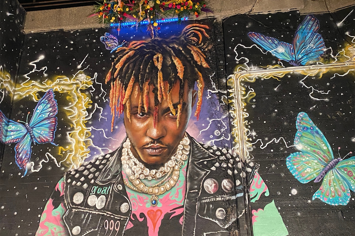 Artist Corey Pane says he created this mural of Juice WRLD in a viaduct in the 800 block of West Hubbard Street near the Kennedy Expressway to celebrate the life of the Chicago rapper who died in December.