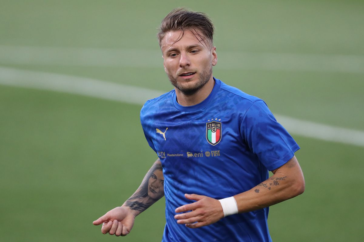 Ciro Immobile of Italy leaves the field of play following the warm up prior to the international friendly match between Italy and Czech Republic at Stadio Renato Dall'Ara on June 04, 2021 in Bologna, Italy.