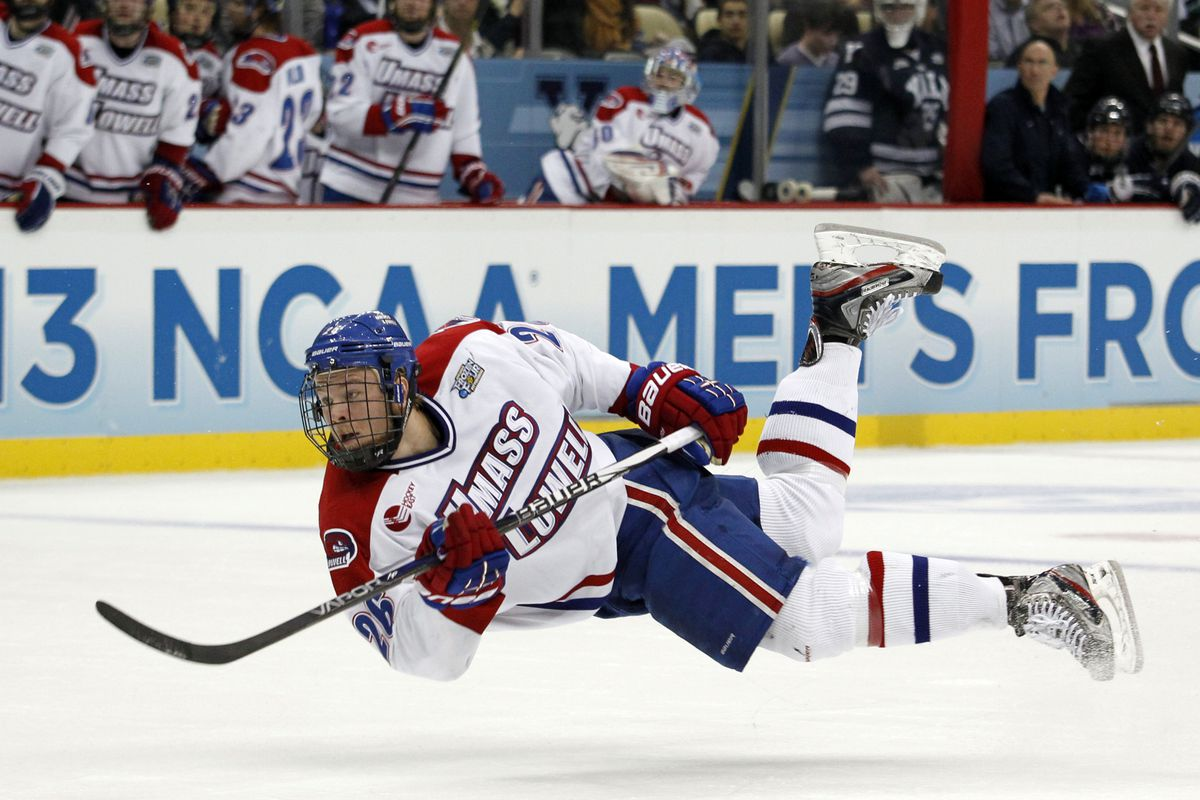 UMass-Lowell defenseman Christian Folin and his teammates flew back from Michigan on a high.