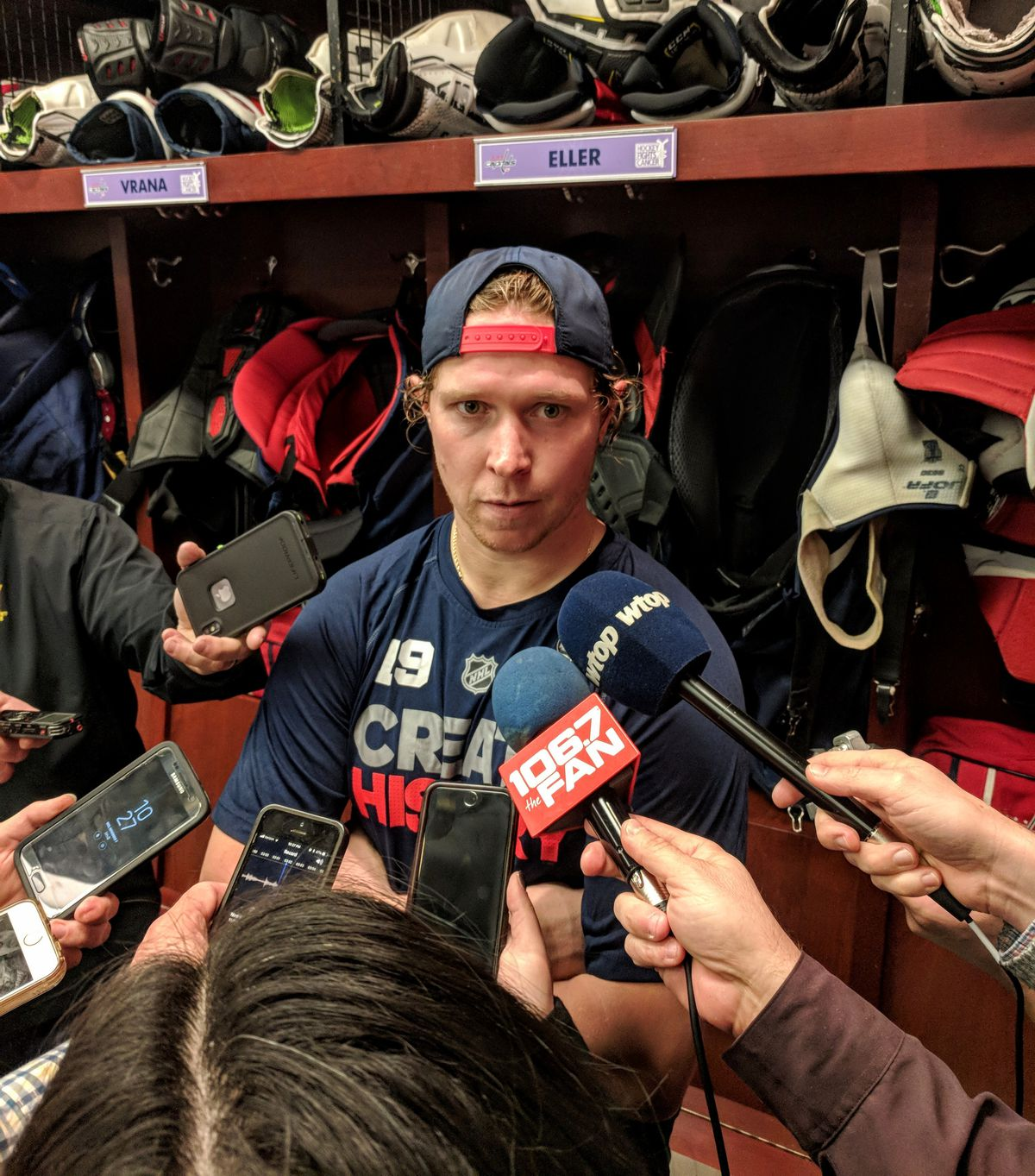 Nick Backstrom addresses the media after his special night. Jason Rogers 8aae630cad0f