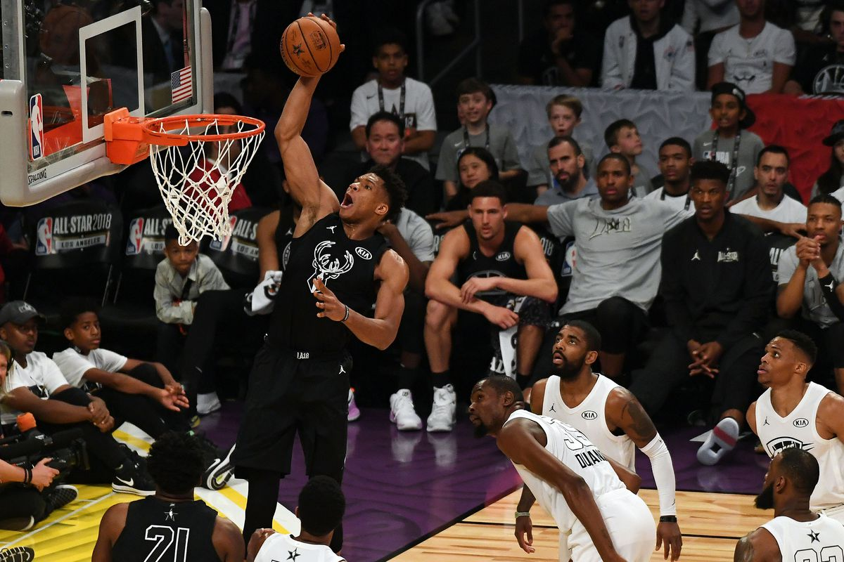 Giannis Antetokounmpo Scores 16 in Second NBA All-Star Game - Brew Hoop