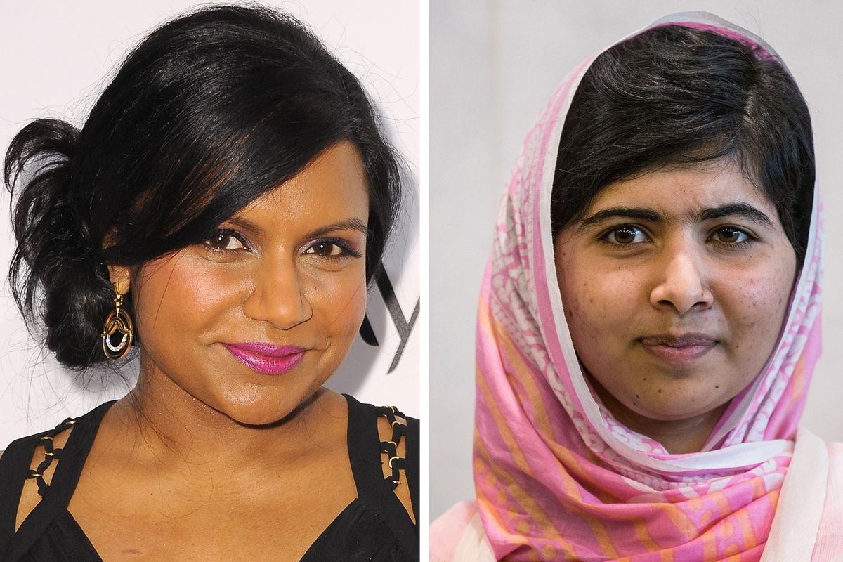 Mindy Kaling, left; Malala Yousafzai, right; you may notice they are different people.