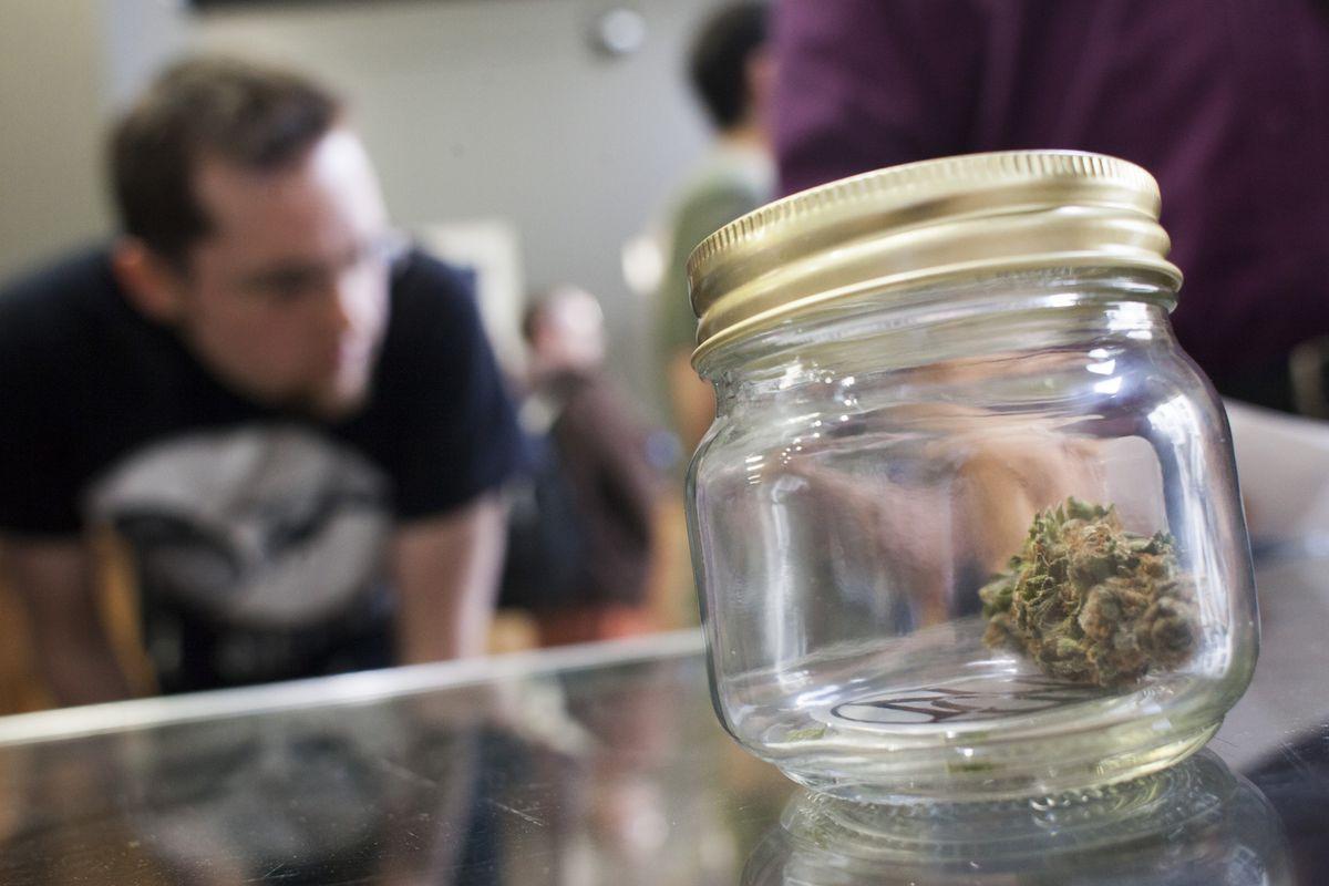Customers shop for marijuana in Washington.
