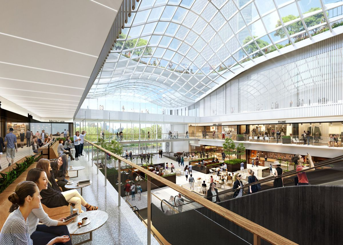 Winter Garden Skylight   Rendering provided by Tricia Maharaj, Equity Office