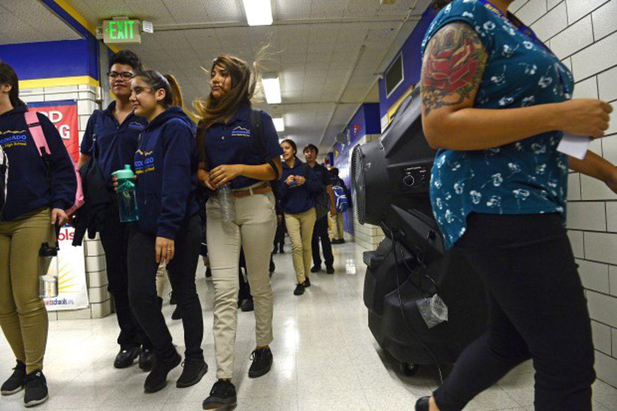 Students at KIPP Denver Collegiate High School.