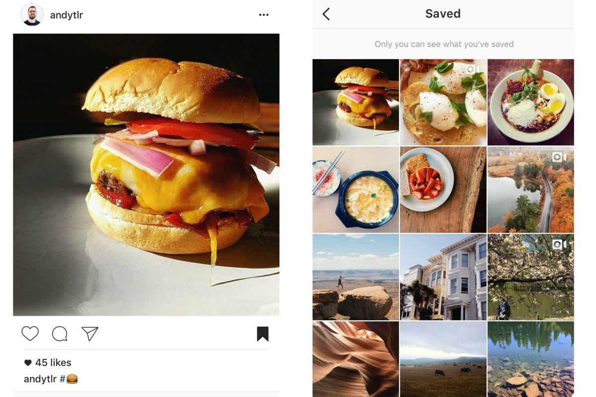 Instagram just rolled out a 'save for later' button - Vox
