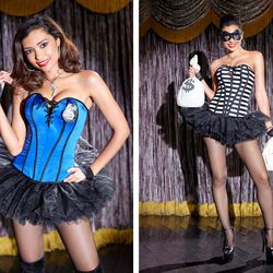 This year, the lingerie retailer unveiled their reversible corset costumes, including this cops-and-robbers-themed piece.