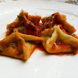 """Babbo's pyramids with passato di pomodoro by <a href=""""http://www.flickr.com/photos/50772153@N07/5528732614/sizes/z/in/pool-29939462@N00/"""">CarbZombie</a>."""
