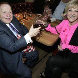 Sheldon Adelson and Elaine Wynn at Buddy V's Ristorante. Photo: Los Caraballo