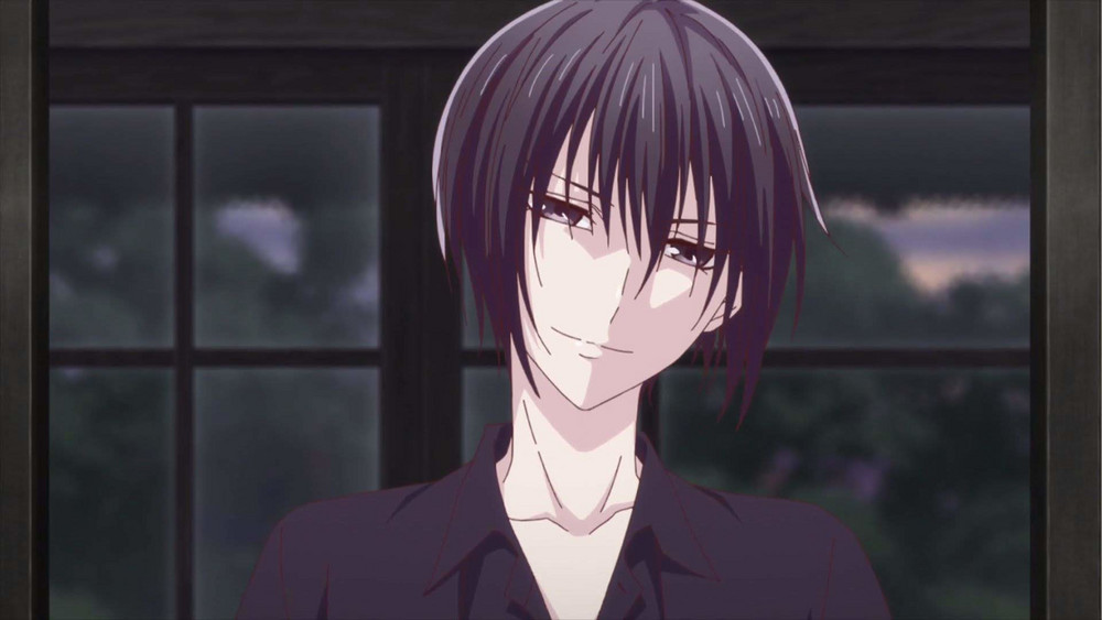 akito smiling menancingly