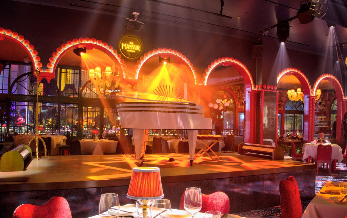 A view of the stage at The Mayfair Supper Club
