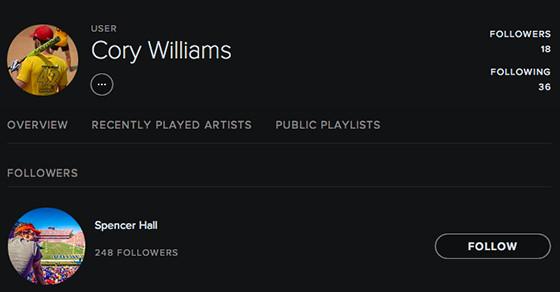 Cory Williams Spotify