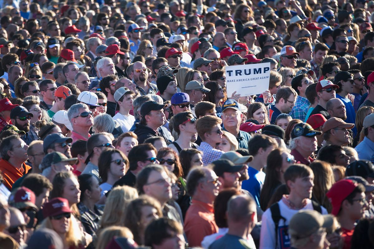 Donald Trump held a campaign rally in Alabama ahead of Super Tuesday.