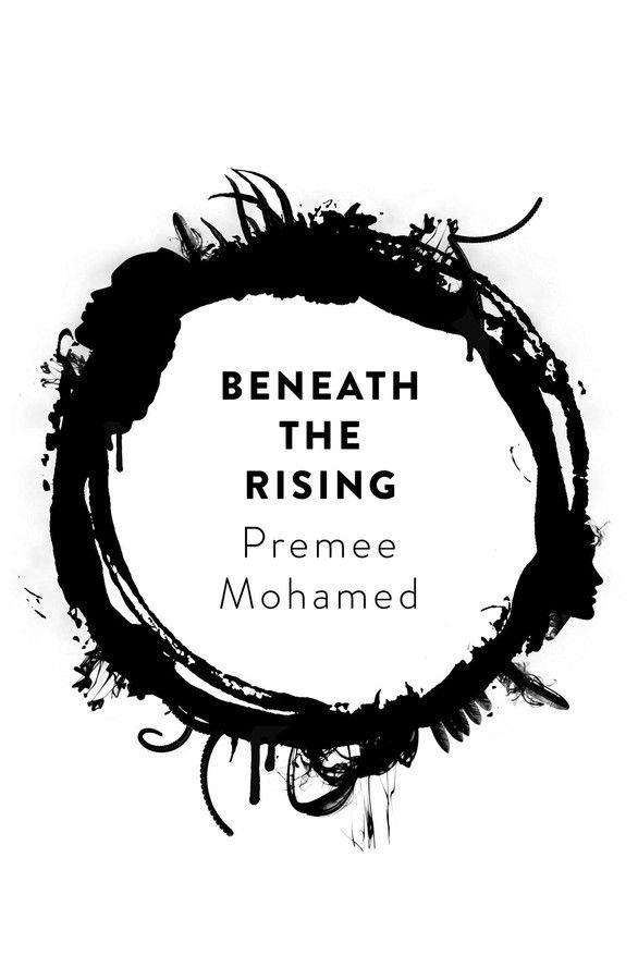 a ring of black ink on the cover of beneath the rising