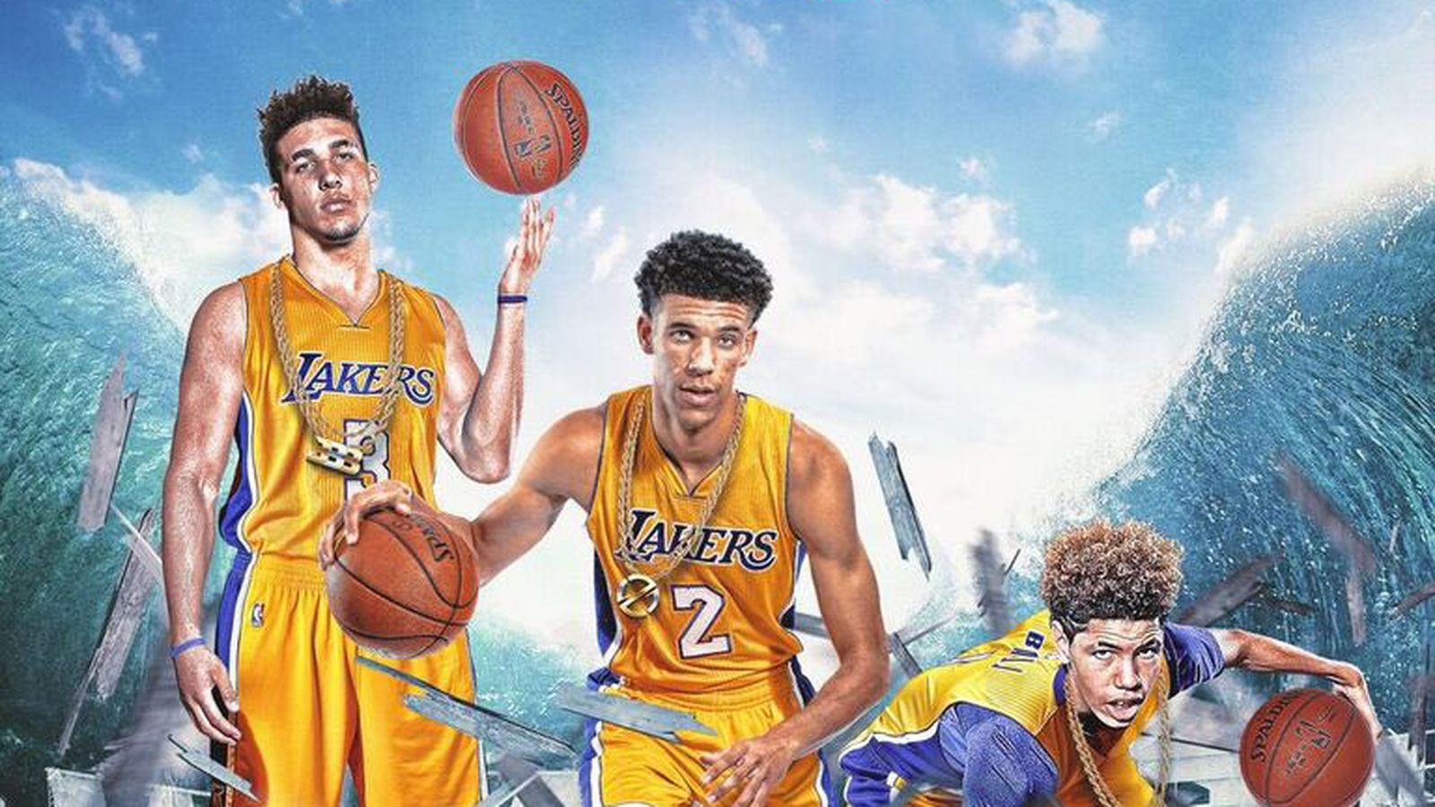 Big Baller Brand is photoshopping the entire Ball family ...