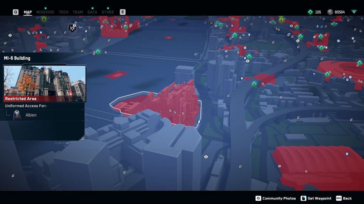 Watch Dogs: Legion hack the planet MI6 location