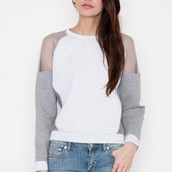 """<strong>Trend #2, Cut-outs:</strong> One of my favorite spring trends! Change up your basics by adding pieces that have slight adaptations. A little bit of skin keeps you feeling breezy and looking cool. Just Female Cut Out Mesh Sweatshirt, <a href=""""https"""