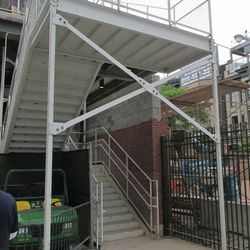 6:56 p.m. Another view of the right-field corner staircase -