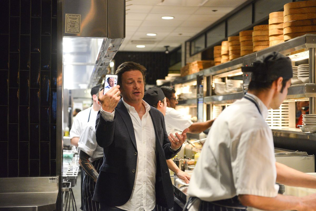 Jamie Oliver Visits Jamie's Italian restaurant