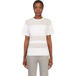 """<b>T by Alexander Wang</b> t-shirt, <a href=""""https://www.ssense.com/women/product/t_by_alexander_wang/white-multi-texture-t-shirt/104865"""">$132</a>"""