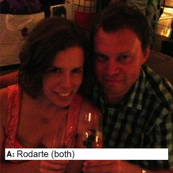 Jennifer Sullivan Brych (L), guest and Jarda Brych (R), photographer