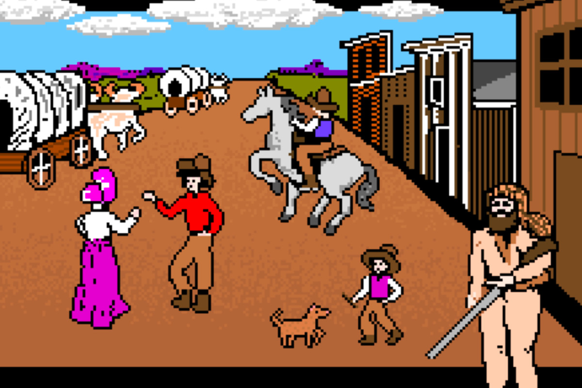 The beginning of Oregon Trail, before all the death.