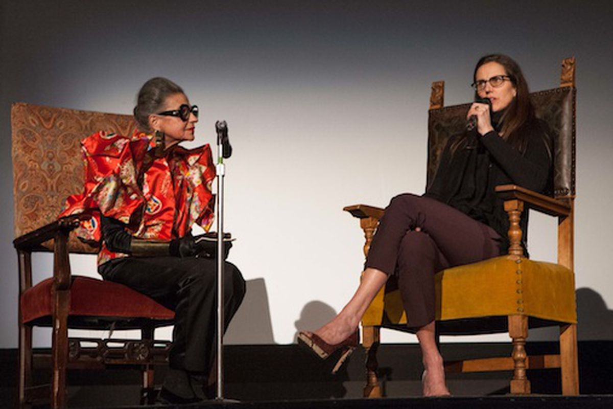 The inimitable Joy Bianchi interviews the director of The Eye Has to Travel at the Castro Theater. Image via 7x7