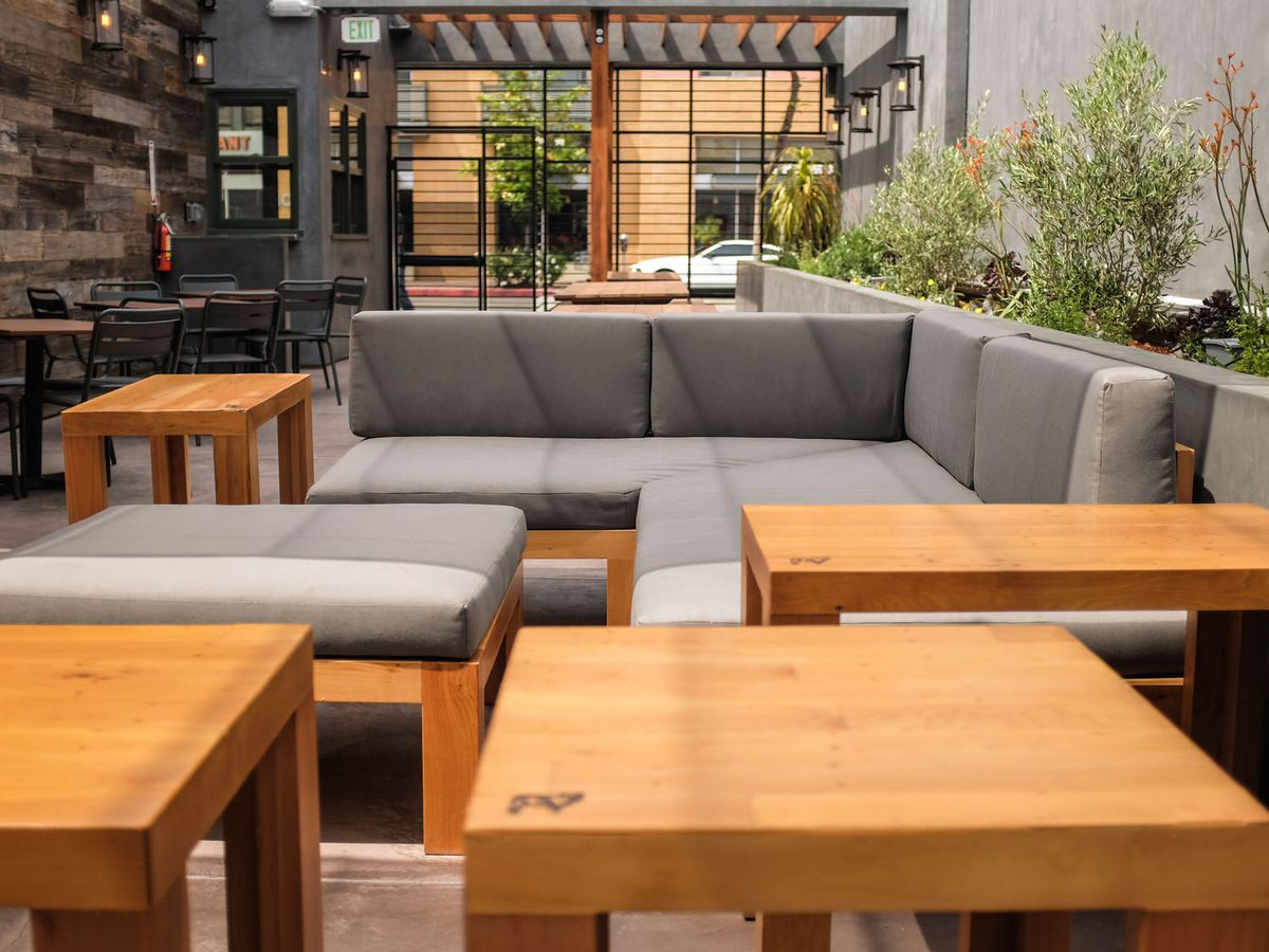 The Fat Dog's patio in North Hollywood, California